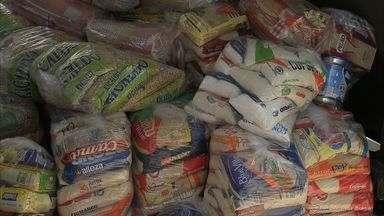 Abrigo Tia Júlia recebe uma tonelada de alimento para doação - Abrigo cuida de crianças carentes.