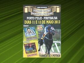 Confira os eventos da semana pelo Brasil - Na Bahia, tem corrida de cavalos na cidade de Piritiba e cavalgada em São Gabriel. Em Pernambuco, é realizada festa dos vaqueiros em Santa Maria da Boa Vista.