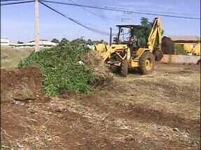 Moradores do Três Lagoas são convocados para mutirão de limpeza - A prefeitura colocou máquinas para retirar todo o entulho em terrenos baldios