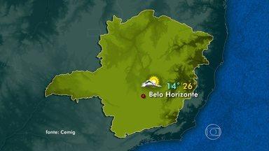 Massa de ar frio e seco deixa o tempo estável em todo o estado - No Leste e Nordeste, o céu fica nublado.