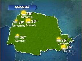Previsão de pancadas de chuva neste domingo em Umuarama - Uma nova frente fria se aproxima da região e deve provocar chuva neste domingo (12) em Umuarama.