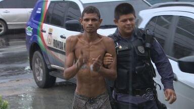 Em Manaus, homem é preso após agredir família da ex-mulher - Segundo as vítimas, o suspeito é usuário de drogas.