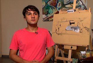 Artista plástico Willian Menkes mostra suas obras no Meu MS - O artista Willian Menkes é estudante de artes visuais e tem se destacado nesta área. Conheça um pouco mais sobre esse artista.