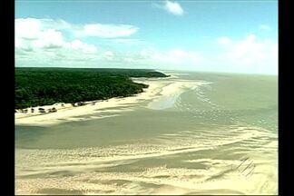 """Programa """"Globo Mar"""" navega pelas águas do Marajó, no Pará - Quem comanda a edição do programa é a repórter Poliana Abrita."""