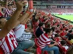 Arena Pernambuco vai receber três jogos da Copa das Confederações - A Arena Pernambuco vai receber pelo menos três jogos da primeira fase da Copa das Confederações. O primeiro jogo vai ser Espanha e Uruguai no dia 16 de junho.