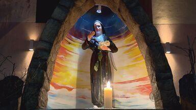 Pudim gigante e cerimônias comemoraram o dia de Santa Rita de Cássia nesta quarta-feira - Pudim gigante e cerimônias comemoraram o dia de Santa Rita de Cássia nesta quarta-feira
