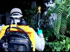 Ações contra dengue são intensificas mesmo na seca em Uberaba, MG - Cidade já registrou 14 mortes pela doença este ano. Notificações já passaram de 20 mil.