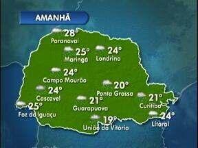 A véspera do feriado será chuvosa - As temperaturas ficam amenas.