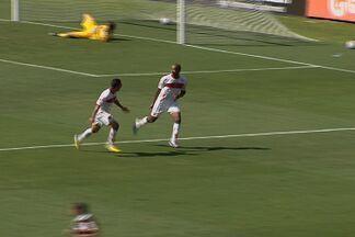 Confira os gols de Vila Nova 3 x 1 Barueri - Com gols de Marco Aurélio, Douglas Assis e Frontini, Tigre estreia com vitória na Série C. Thiago Marques descontou para a equipe paulista.