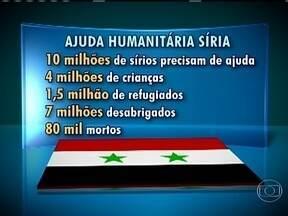 ONU pede ajuda humanitária de R$ 10 bi para ajudar vítimas de conflitos na Síria - De acordo com a ONU, dez milhões de sírios precisarão de ajuda até o fim do ano.