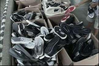 Feira comercializa calçados a preços populares no Sul do ES - São calçados de R$ 10 e R$ 15.Feira termina no domingo (9).