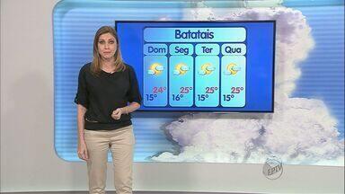 Previsão de sol e calor neste domingo (9) na região de Ribeirão Preto - Temperaturas continuam baixas durante a madrugada por causa da massa de ar seco e frio que age no sudeste do país.