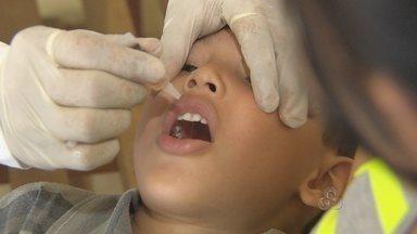 Campanha de vacinação em Macapá - Iniciou neste sábado a campanha de vacinação contra a paralisia infantil. A meta é imunizar 38 mil crianças até o dia 21 de junho, somente na capital.