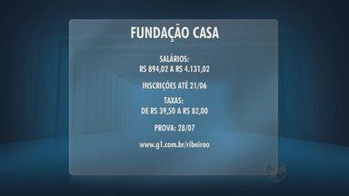 Concurso da Fundação Casa encerra inscrições nesta sexta-feira - Salários variam de R$ 894 à R$ 4.131.