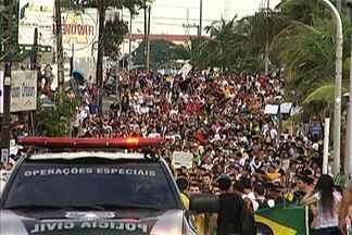 Um sábado de protesto em São Luís - Mais uma vez manifestantes foram as ruas pedir melhorias para o transporte, educação e saúde.