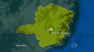 Veja previsão do tempo para este domingo - Em Belo Horizonte, os termômetros podem marcar 25ºC.