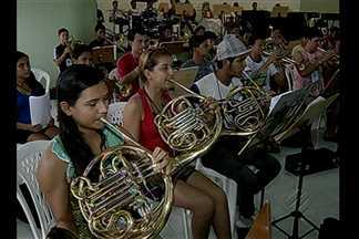 Projeto de bandas musicais reuniu em Bragança mais de 700 alunos de 48 municípios - Evento é promovido pelo Governo Federal, em parceria com a Fundação Carlos Gomes.