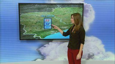Confira a previsão do tempo para a região de São Carlos nesta terça-feira (9) - Confira a previsão do tempo para a região de São Carlos nesta terça-feira (9).