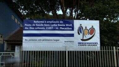 Unidade de saúde fechado obriga população a ser atendida em igreja - Prefeitura aguarda uma verba de R$93 mil para concluir a obra