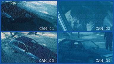 Close no homem-bomba - O Prof. Aristóbulo, precavido que só, mandou instalar câmeras de segurança no Centro Cívico. E, adivinha, elas flagraram o homem que explodiu no carro. Quer ver?