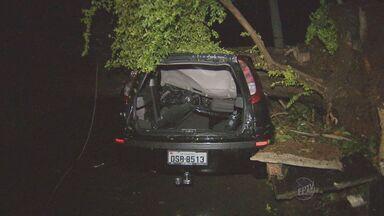 Chuva de granizo e ventos fortes causam estragos em Piracicaba, SP - A chuva de granizo e os ventos com mais de 120km/h que ocorreram durante o ultimo domingo (21) causaram estragos na cidade de Piracicaba (SP).