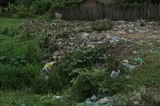 Moradores do bairro Novo Bacabal reclamam de problemas como lixo - Situação ocorre na principal via do bairro, a Avenida Brasília.