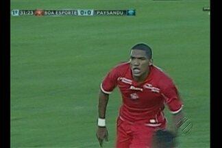 Com gol de Karanga, Boa Esporte vence Paysandu - Jogo terminou 1 a 0 para o time mineiro. Atacante atuou no futebol paraense pelo Bragantino e chegou a ser oferecido ao Papão, que rejeitou.
