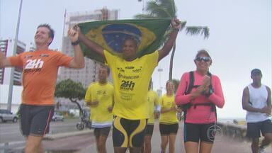 Ultramaratonista corre para ajudar crianças com câncer - Carlos Dias percorreu 120 Km no fim de semana no Recife