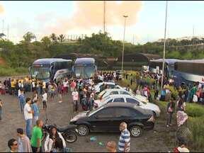 Caravanas de católicos saem da Bahia para Jornada Mundial da Juventude - Os jovens são de Salvador e de cidades do interior do estado. Jornada começa nessa terça-feira e o Papa já está no Rio de Janeiro.
