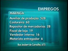 528 vagas para auxiliar de produção são oferecidas na Agência do Trabalhador de Maringá - Maringá:Auxiliar de produção 528Costureira 60Repositor de mercadorias 28Fiscal de loja 19Vendedor interno 13Motorista entregador 06