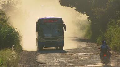 Estrada que liga cidades de Nazaré e Buenos Aires está em péssimas condições - Moradores sofrem para circular pela área.
