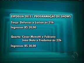 Confira a programação de hoje e de amanhã na Expogua - Nesta quarta-feira tem grande show com as duplas Cesar Menotti e Fabiano e João Neto e Frederico. Os ingressos estão sendo vendidos a partir de 30 reais.