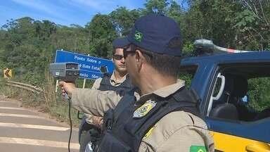 Polícia Rodoviária Federal faz fiscalização com novos equipamentos - Aparelhos de radar já estão nas viaturas para monitorar o excesso de velocidade.