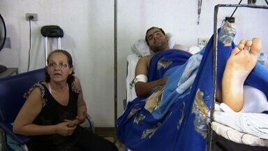 Estado de saúde de jovem de 19 anos vítima de acidente em Campo Grande é grave - O acidente ocorreu durante a madrugada do sábado (3) em Campo Grande. A jovem estava com mais três amigos quando o veículo bateu em um poste.
