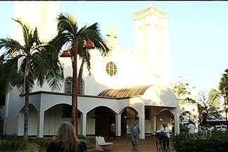 Após quinze dias, polícia não encontra suspeito de roubar igreja, em Itumbiara - Homem levou mais de R$ 1,5 mil da Igreja Católica. O dinheiro havia sido doado por devotos de Santa Rita de Cássia, a padroeira da cidade.