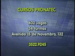 Abertas incrições para cursos gratuitos - Mais de 600 vagas são oferecidas pelo Pronatec.