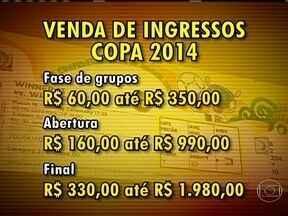 Começa a venda de ingressos para Copa do Mundo 2014 - A primeira fase da venda de ingressos vai até o dia 20 de outubro. Os preços variam de 60 até 350 reais na fase de grupos. Na decisão o preço pode chegar até 1.980 reais.