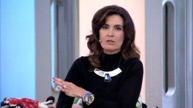 Fátima Bernardes gostaria de ter braços mais finos - Apresentadora se queixa na hora de comprar roupas
