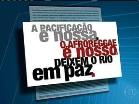 Campanha de apoio ao grupo Afroreggae é lançada - Artistas, jornalistas e pessoas com destaque na sociedade civil lançaram a campanha como resposta a violência cometida contra o Afroreggae em julho de 2013. O movimento também é a favor da pacificação nas favelas.