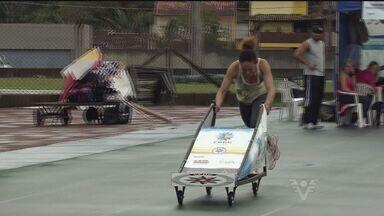 Seletiva de bobsled agita a pista de atletismo em Praia Grande - Evento foi realizado no último fim de semana