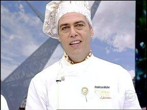 Com mistura de cogumelo e pêssego, Anderson Müller ganha imunidade no Super Chef - Ator conquistou jurados na prova 'Desejo de Grávida', que teve a cantora Wanessa como convidada