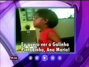 Fofo! Davi conversou com Ana Maria e com a Galinha Pintadinha pela TV - Ana Maria recebe a Galinha Pintadinha e sua turma no estúdio