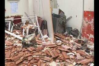 Caixa eletrônico é explodido em Olivedos, na Paraíba - Depois de roubar o dinheiro, bandidos saíram atirando nas ruas da cidade.