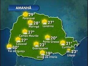 Feriado da Independência de tempo bom em Londrina - Veja a previsão para o fim de semana no mapa.