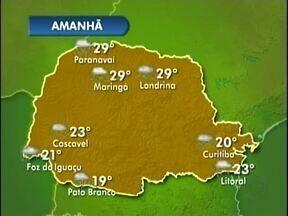 Previsão é de mais chuva para a fronteira e para o sudoeste - Nuvens continuam carregadas na fronteira.