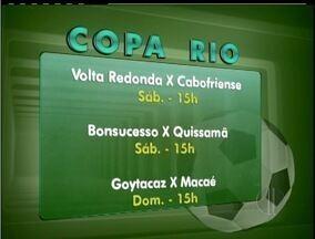 Confira os destaques da Copa Rio de futebol - Próxima rodada da competição acontece neste final de semana.