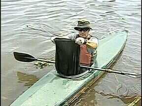 Sábado de mutirão no Lago Igapó - Voluntários se uniram pra limpar um dos patrimônios de Londrina. E tiveram muito trabalho
