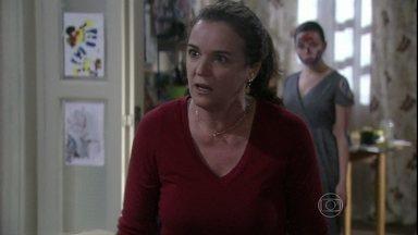 Neide e Amadeu discutem na frente de Linda - A menina pede para Rafael voltar a visitá-la