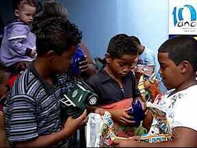 Associação do Câncer em Uberlândia promove atividades para crianças - Alegria tomou conta na das crianças na manhã deste sábado (19).