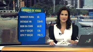 Confira os horários dos telejornais durante o horário de verão - O horário de verão começa a zero hora deste domingo (20).